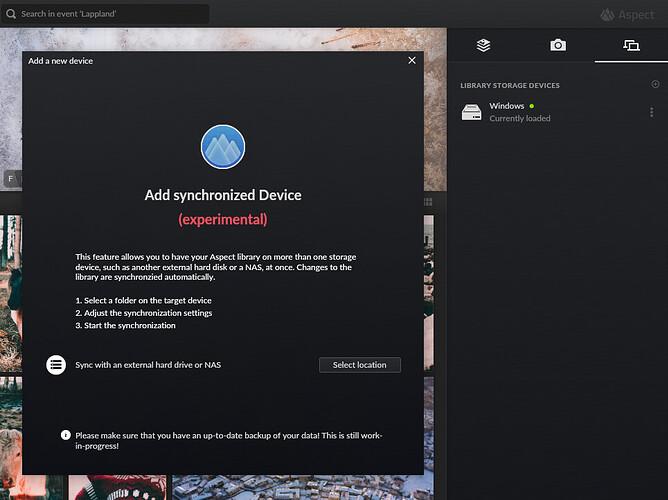 Add device dialog